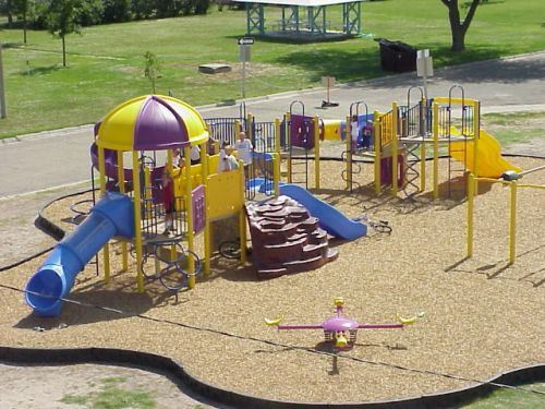 The playground at Annie Oakley Park