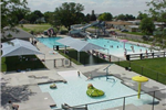 An aerial photo of the Oakley Municipal Pool